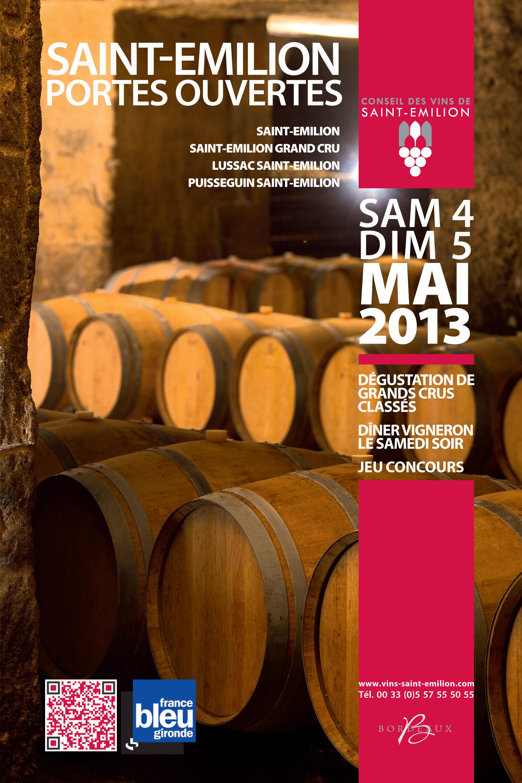 Couve dépliant Saint-Emilion Portes Ouvertes 4  5 mai 2013