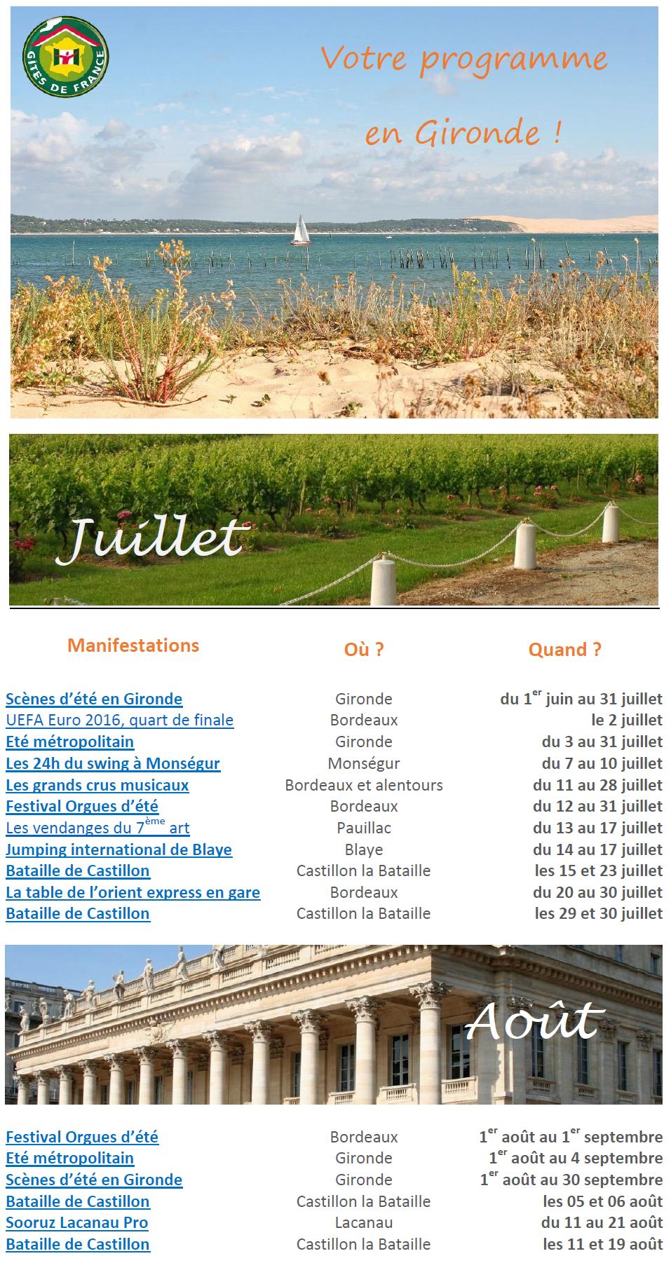 événements Gironde