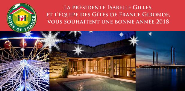 Gîtes de France Gironde - voeux 2018
